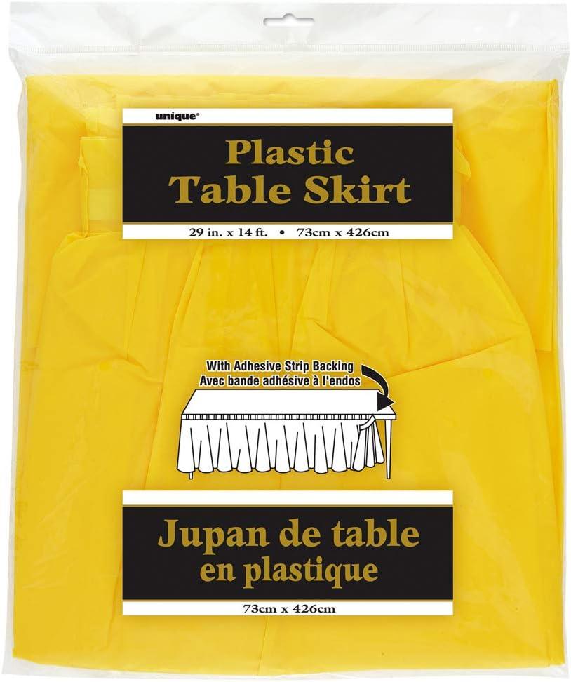 Orange 50049 Unique Party Jupe de Table en Plastique 4,2 m