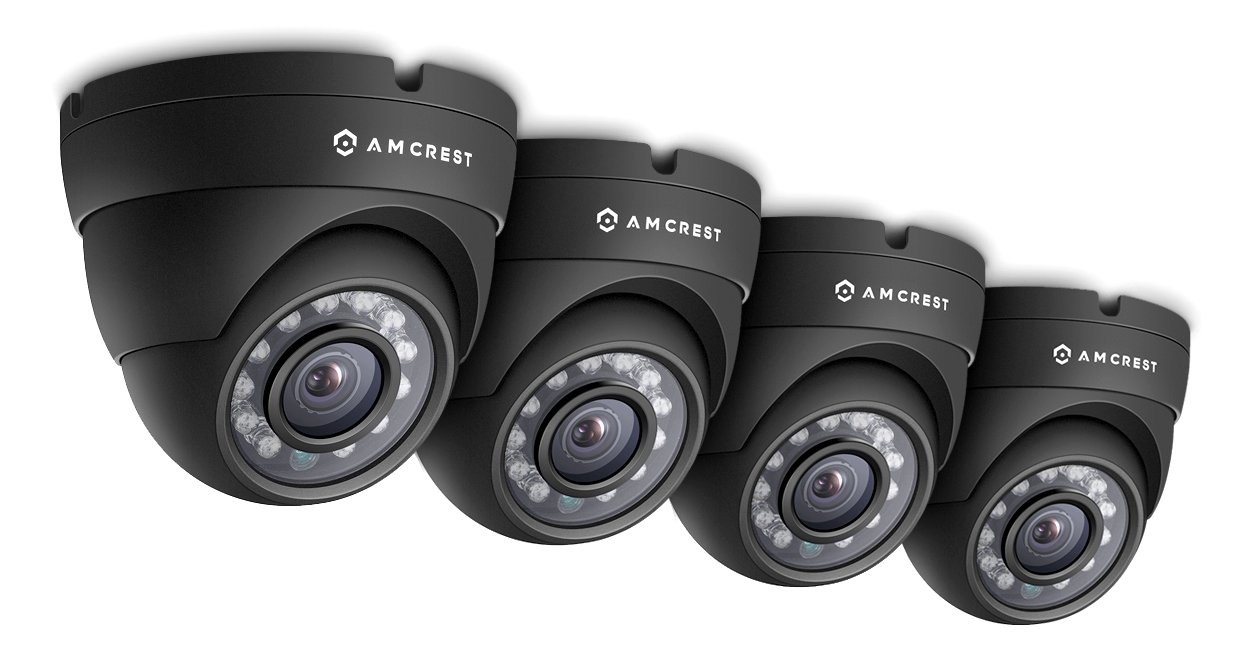 Amcrest Eco-Series 720P HD Security Cameras, Weatherproof IP66 Dome Cameras, 65ft IR LED Night Vision (4-Pack) ... by Amcrest B01D3RH4S2