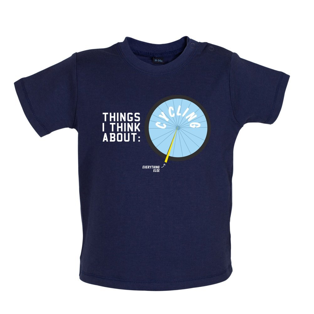 Dressdown I Thiink About Cycling Baby//Toddler T-Shirt 3-24 Months