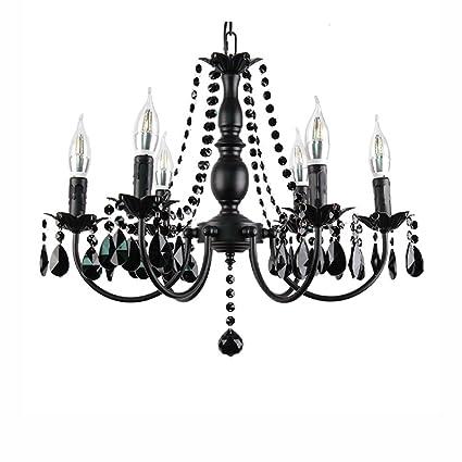 Best wishes shop araña de luces- Candle Lamp American Village Iron Crystal Lámparas de estilo