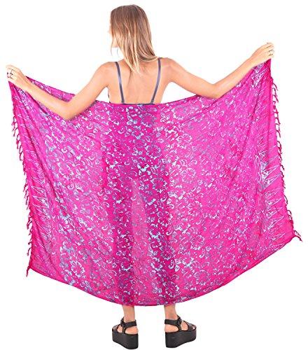 ropa de playa traje de baño de las mujeres hasta la cubierta del abrigo del traje de baño traje de baño desgaste piscina pareo complejo desgaste envoltura de color rosa
