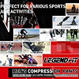 LEGENDFIT Men's Basketball Pants with Knee Pads 3/4