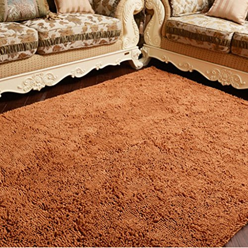 Bedroom Carpet Bay Window Bedside Rug Coffee Table Living Room Rug Soft Comfort Thicken Lena Chenille Rug (Color : Champagne, Size : (Lena Champagne)