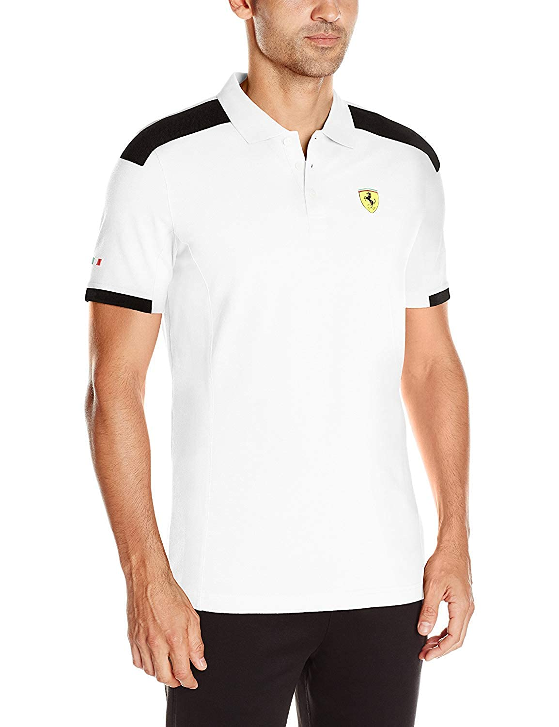 PUMA Mens Scuderia Ferrari Polo, White, Small: Amazon.es: Ropa y ...