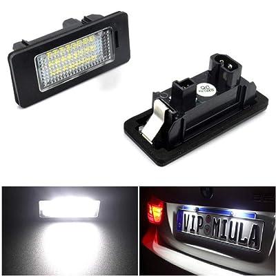 Car Automobile Led License Plate Light Car Number Lamp 2pcs 24 SMD For BMW E90 E82 E92 E93 M3 E39 E60 E70 X5 E39 E60 E61 M5 E88: Automotive