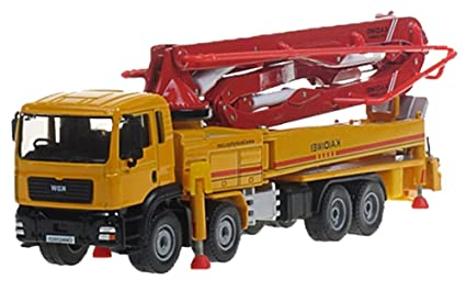 Boys 1:55 Scale Giant Engineering Cement Concrete Pump Truck Alloy Vehicle  Model Car Toy