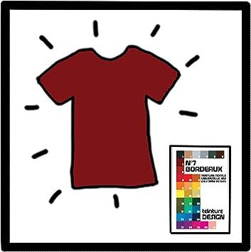 Tinte textil rojo burdeos