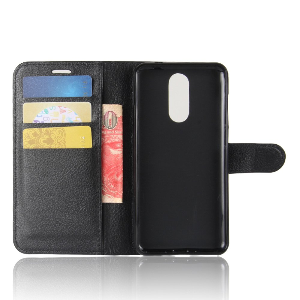 Slim Fit For Cubot Note Plus Case Flip Book Case Cover with Stand Function and Credit Card Slot,black Premium Genuine Leather Wallet Case