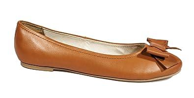9a175636989 Emmy Twenty Danson (Tan) Leather Ballerina Flats