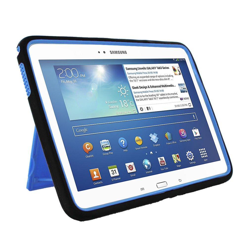 Gizmo Dorks Armor Skin + Hard Case for Samsung Galaxy Tab 3 10.1'' P5200 (Black over Blue)