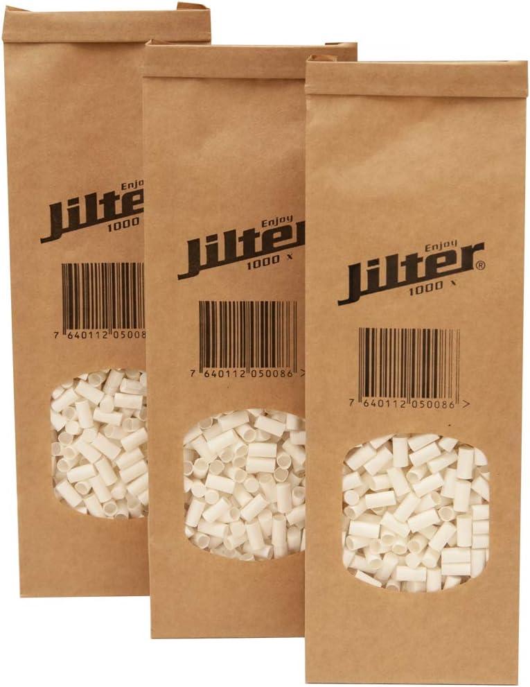 Filtro de cigarrillos Jilter 1'000 unidades I paquete familiar en bolsa bio I Diámetro 6 mm I de celulosa