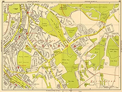 Sections Of London Map.Amazon Com South Croydon Sanderstead Selsdon Kenley Purley