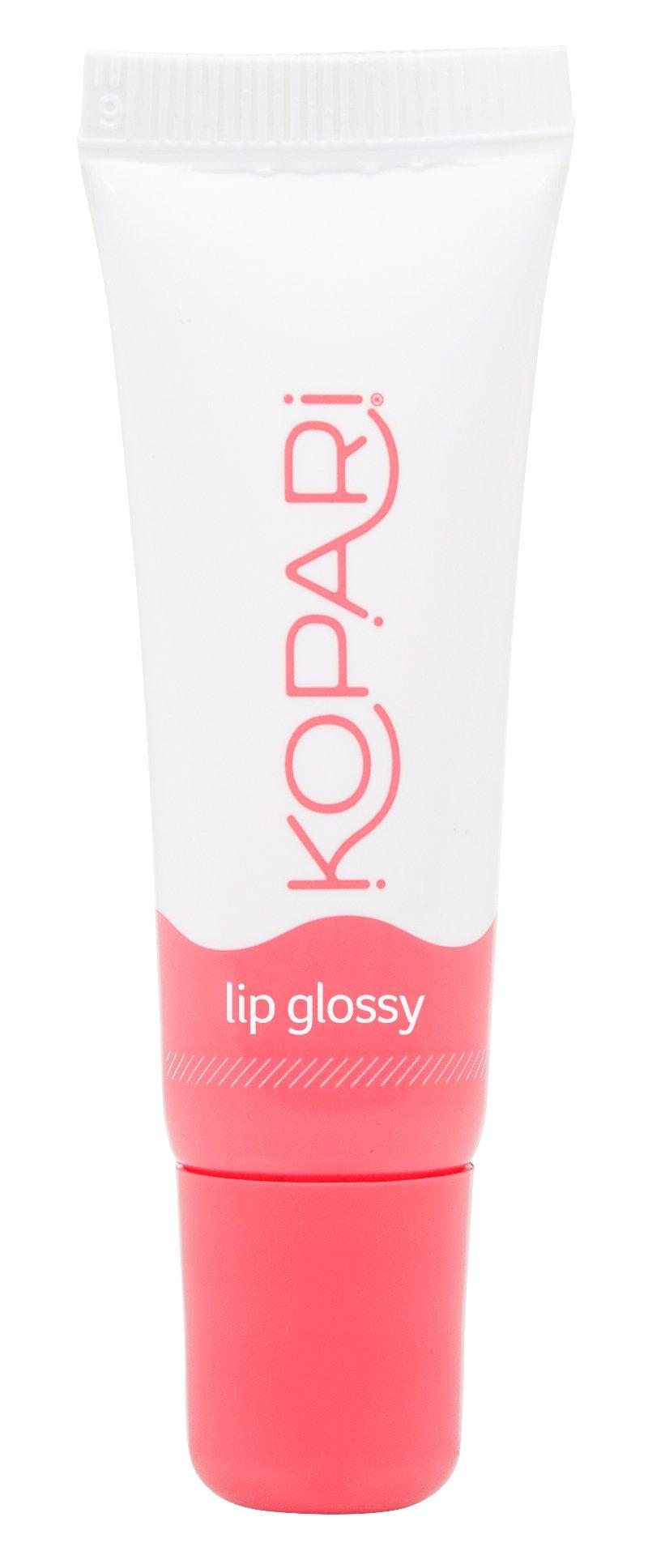 Kopari Coconut Lip Glossy- Hydrating and Moisturizing Coconut Oil, Vitamin E and Shea Butter Lip Gloss With 100% Organic Coconut Oil, Non GMO, Vegan, Cruelty Free, Paraben Free, Sulfate Free 0.35 Oz
