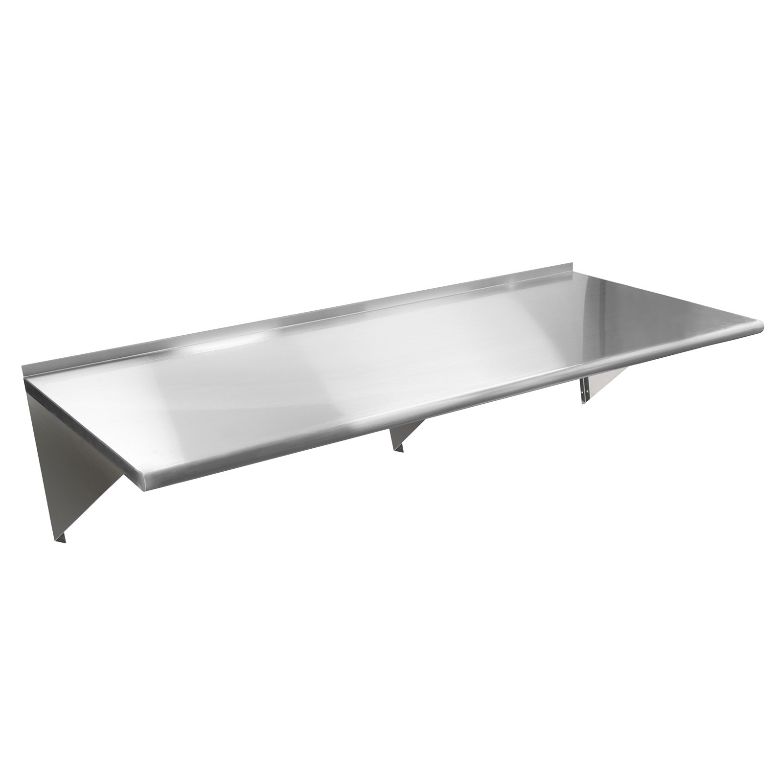 Gridmann NSF Stainless Steel Kitchen Wall Mount Shelf Commercial Restaurant Bar w/ Backsplash - 18'' x 60''