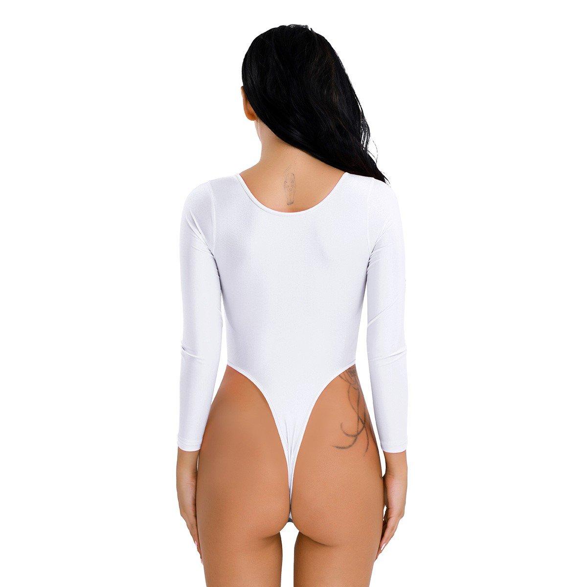 Tiaobug Body Femme String Justaucorps Combinaison V Col Élastique ... 282d0ea167d
