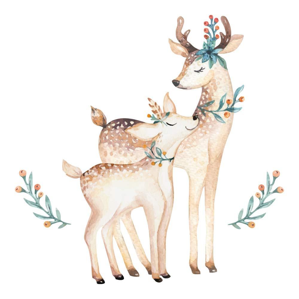 Liebenswert Mädchenzimmer Wandgestaltung Ideen Von Look Wandsticker Zum Kleben Babyzimmer Floral Tierwelt