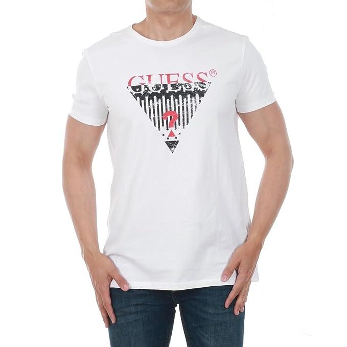 GUESS Camiseta Hombre XL Blanco U82I126404Z-A009: Amazon.es: Ropa y accesorios