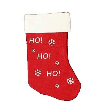 HAAC Bota-calcetín Botas calcetín de Navidad con motivos navideños Fieltro 37 cm Navidad: Amazon.es: Hogar