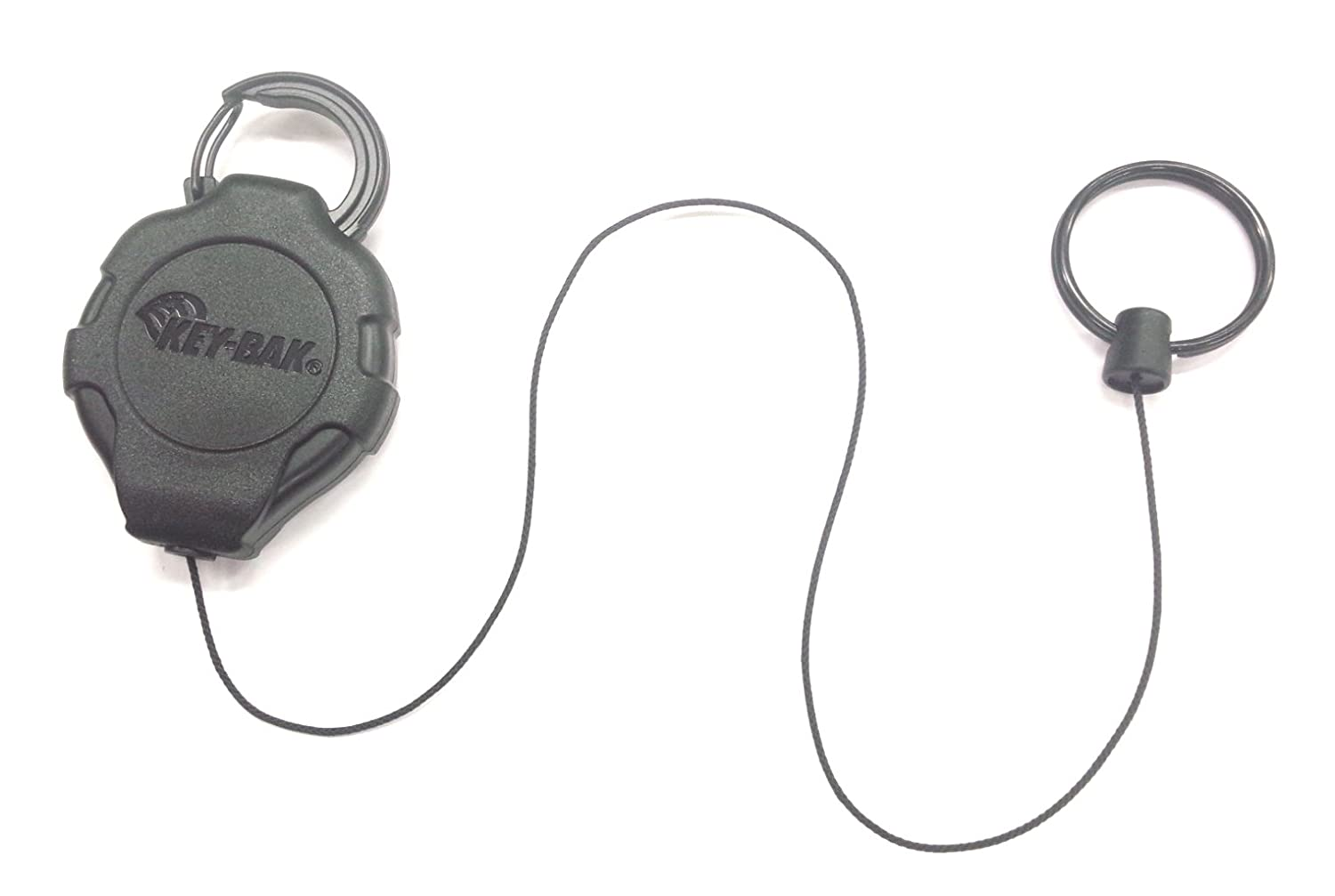 20 oz KEY-BAK Ratch-It Retractable Ratcheting Tether with 28 Kevlar Cord Carabiner Attachment Retraction Force