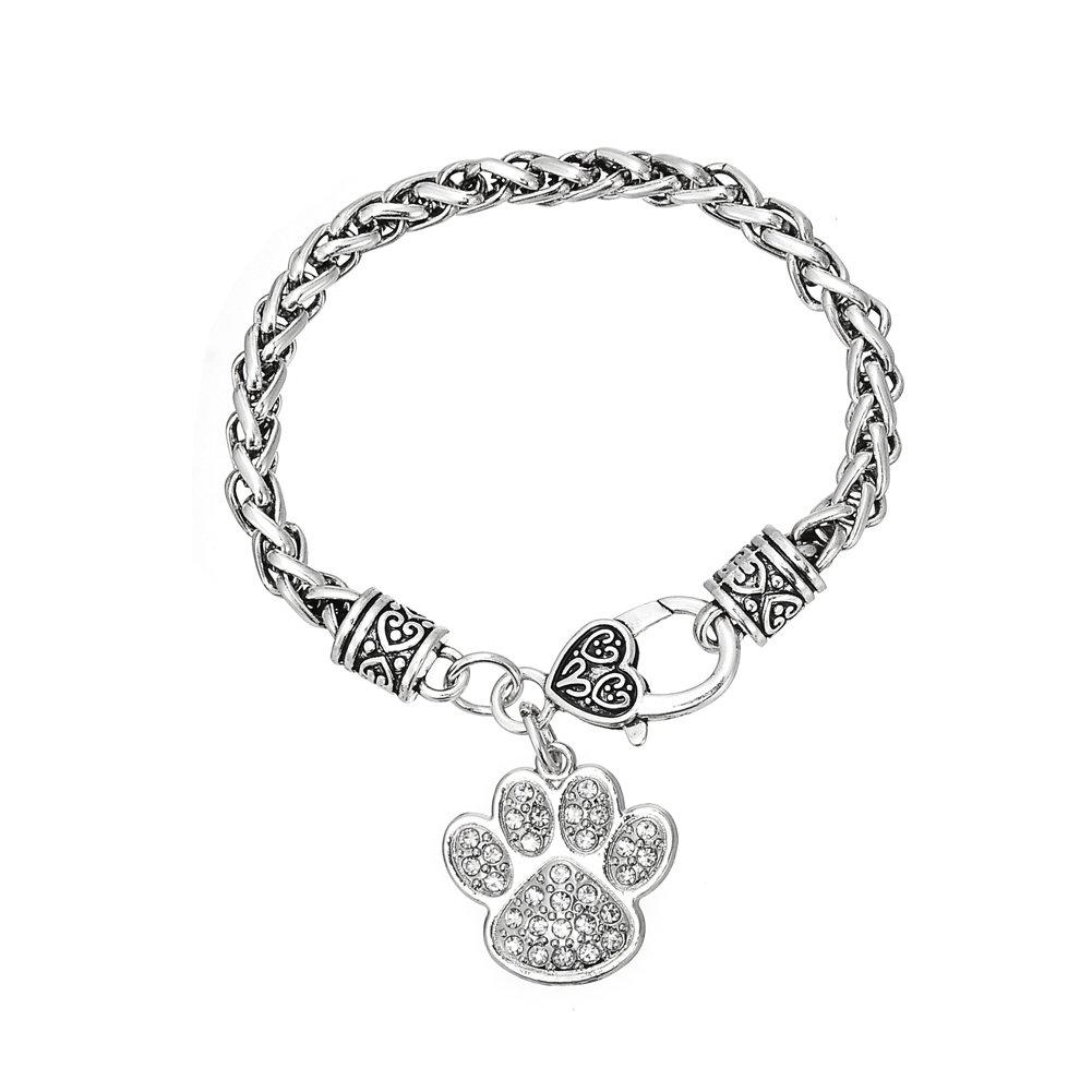 Skyrim Runic orso zampa ciondolo catena di metallo intrecciato braccialetto per uomini e donne YI WU KE JI