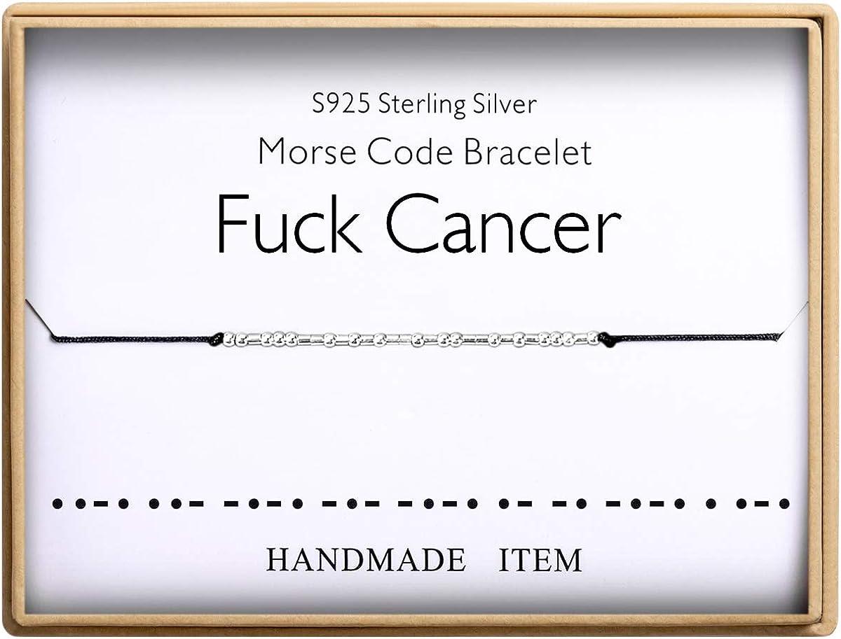 Fuck Cancer Bracelet Morse...