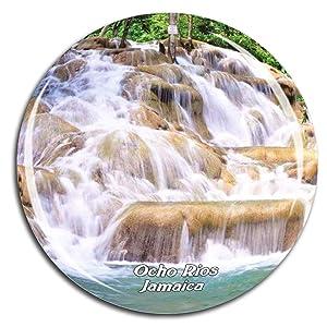 Ocho Rios Ocho Rios Jamaica Caribbean Sea Fridge Magnet 3D Crystal Glass Tourist City Travel Souvenir Collection Gift Strong Refrigerator Sticker