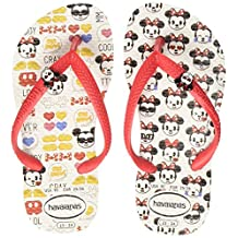 Havaianas Kids Disney Cool White/Red Ruby Flip Flop 23/24