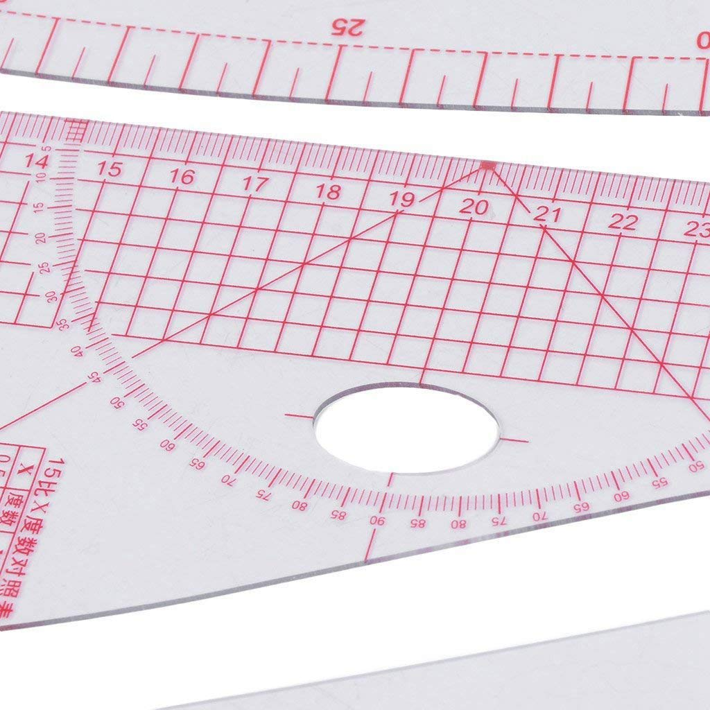 SNOWINSPRING 9PCS Set Multi Styling Design Drawing Comma Line Straight French Curve Ruler