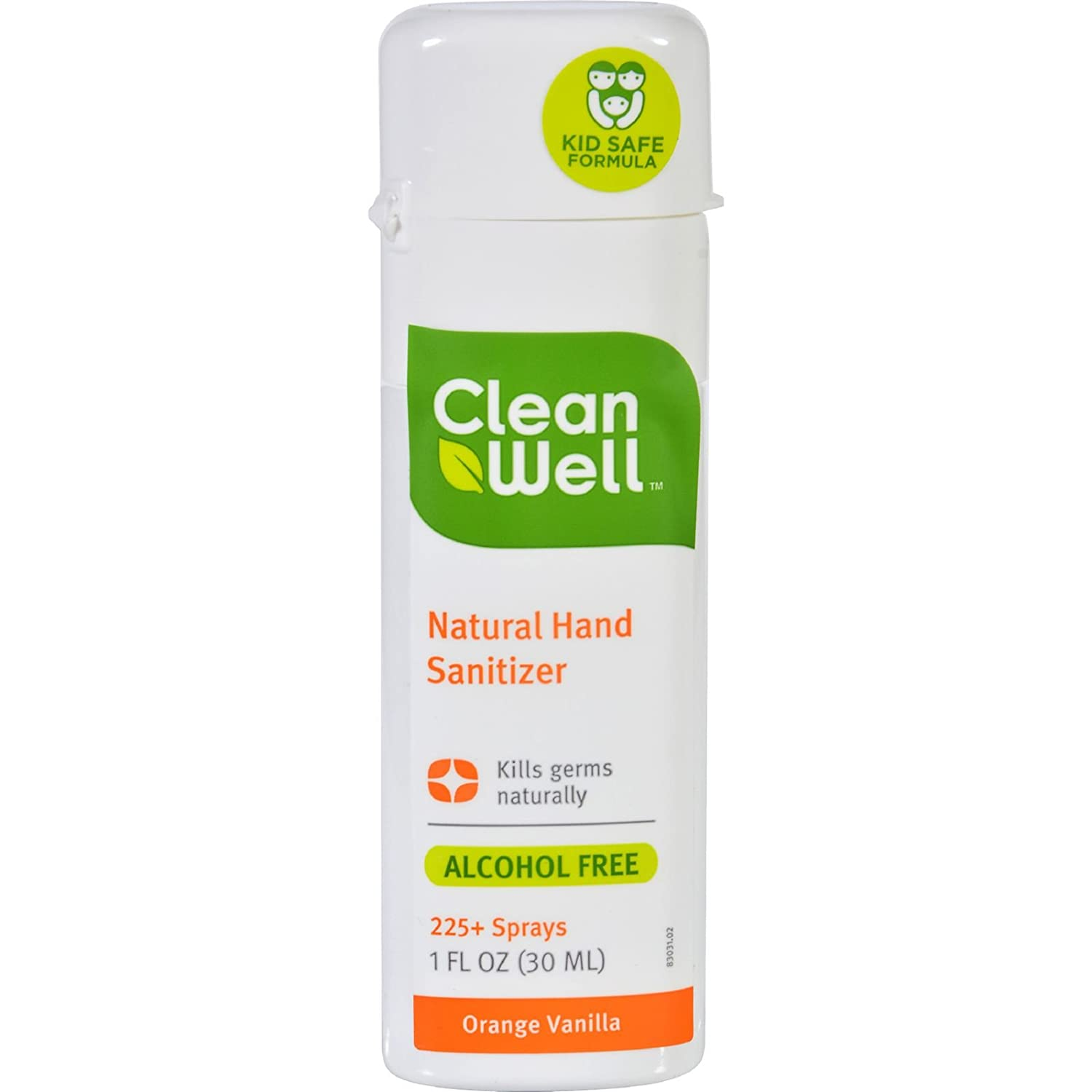Cleanwell CLW-59772P4 Hand Sanitizer Spray , Orange Vanilla, 1 oz. This multi-pack contains 4. TRTAZ11A