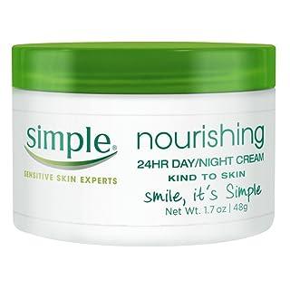 Simple Nourishing 24Hr Day Day/Night Cream 1.7 Ounce Jar(Box) (50ml) (2 Pack)