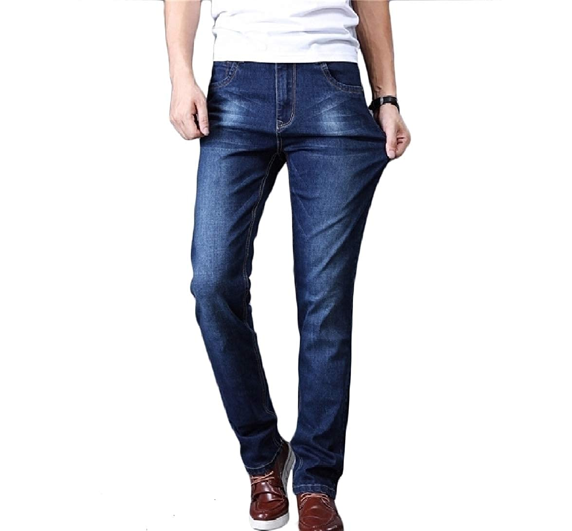 Tootless-Men Long Pants Silm Fit Washed Oversize Straight Athletic-Fit Jean