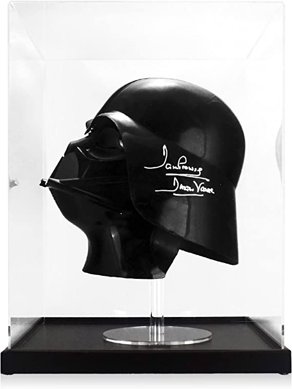 Darth Vader Firmado Casco En caso de exhibición: Amazon.es ...