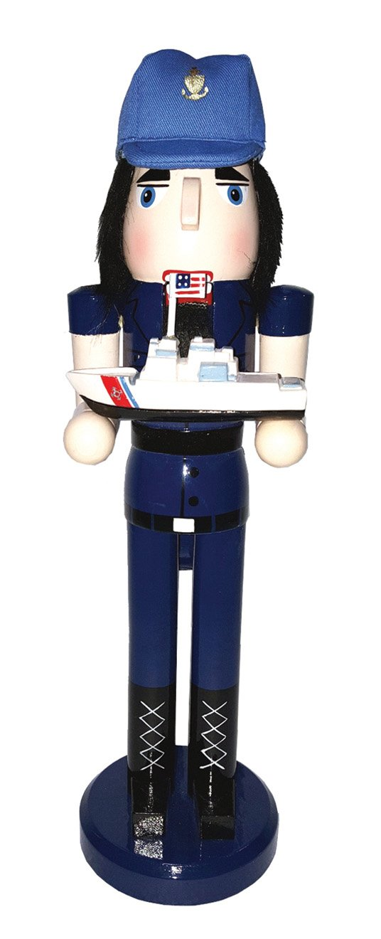 Santa's Workshop 70547 Coast Guard Nutcracker  14""