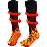 Heated Socks for Men Women Rechargeable Washable, Upgraded Electric Winter Thermal Socks with 3 Heating Settings 4000mAh…