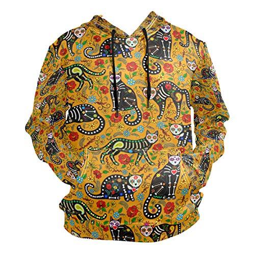 (Royal Canin Cat Food Hooded Sweatshirt Men's Autumn Winter Pullover Hooded Sweatshirt)