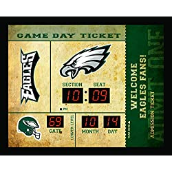 Team Sports America Philadelphia Eagles Bluetooth Scoreboard Wall Clock