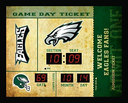 Philadelphia Eagles Bluetooth Scoreboard Wall Clock (Sports Team Wall Clock)