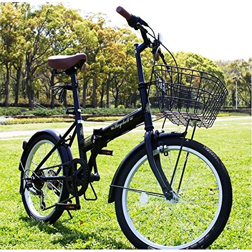 折りたたみ自転車 20インチ/ブラック(黒) シマノ6段変速 【Raychell】 レイチェルFB-206R B07D1C7PLT