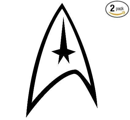 amazon com angdest star trek logo black set of 2 silhouette