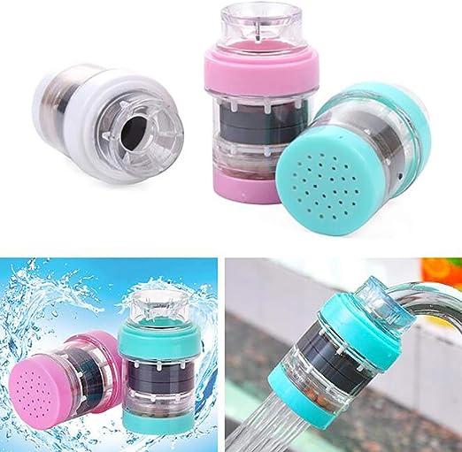 Ruidi Filtro de agua de grifo magnetizado de piedra de arroz baño filtro de agua purificador de agua filtro de grifo cinco instalado Color mezclado con cinco piezas: Amazon.es: Hogar