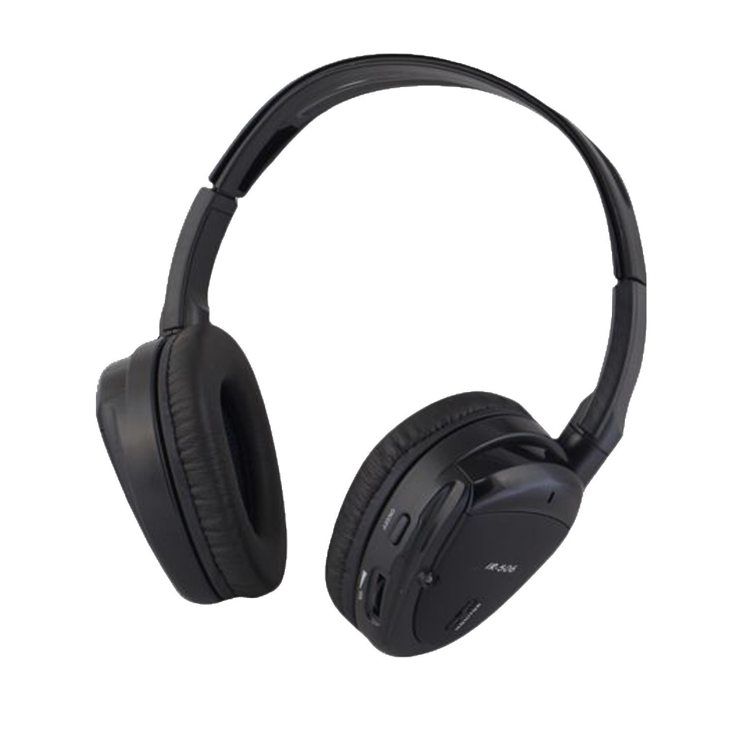 Wireless Dual Channel IR Headphone with Zippered Hard Storage Case Vission AM-IR506D