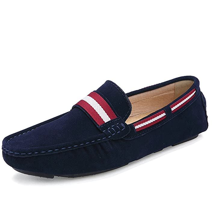 Fashion Mens Two-Tone Loafers Classic Slip-On Car Shoe