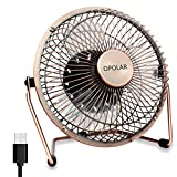 OPOLAR 6 Inch Desktop USB Fan, USB Powered, Personal Table Fan, Mini Cooling Fan, Small Desk Fan - Copper
