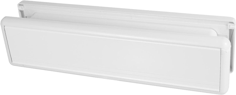 25 cm per porte in UPVC a incasso colore: bianco HS3755 Paddock-Buca per lettere