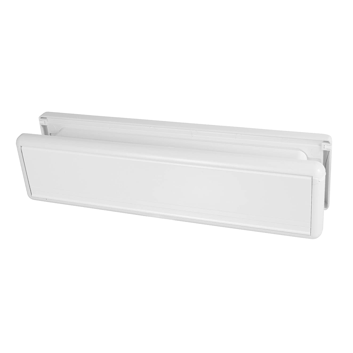 Paddock HS3755 10-Inch Letterbox with Surround for UPVC Doors - White Home Secure