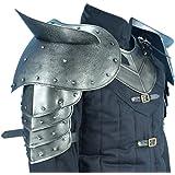 Armor Venue Dark Warrior Pauldrons with Sword Breakers - Metallic - One Size Armour