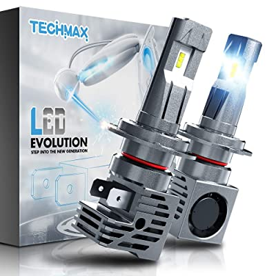TECHMAX H7 LED Headlight Bulb,Small Design 60W 10000Lm 6500K Xenon White ZES Chips Extremely Bright Conversion Kit of 2: Automotive