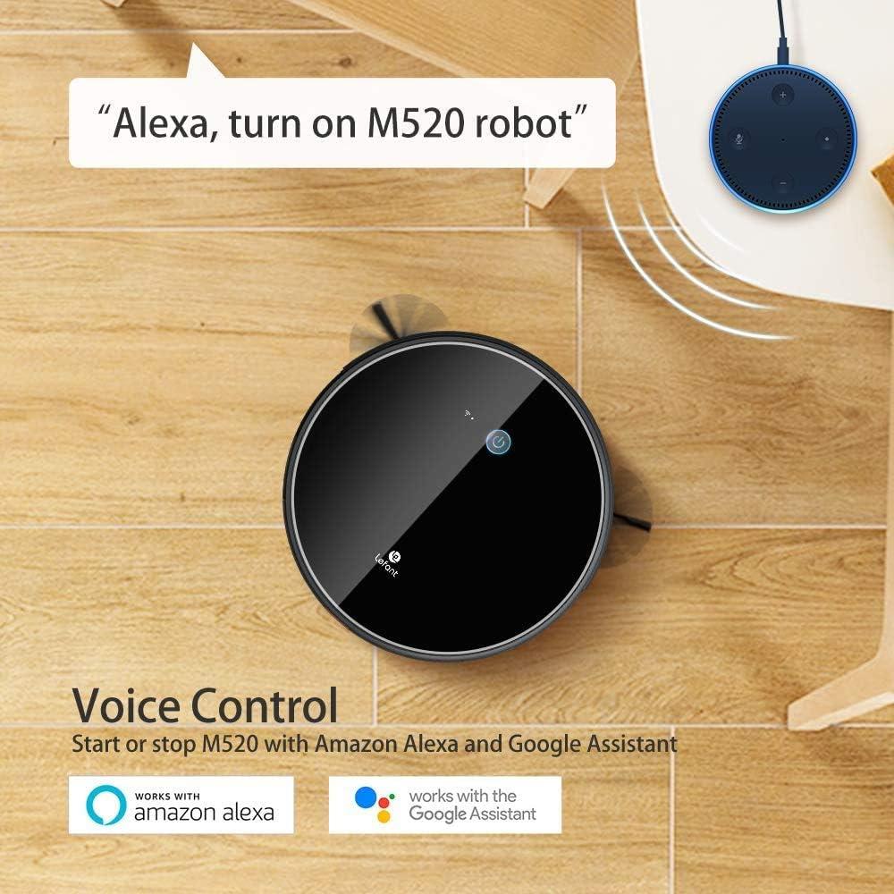 LEFANT Robot Aspirador,succión de 2200 Pa,Control WiFi,Funciona con Alexa y Google,mapeo Inteligente,silencioso,autocargable, Robot Aspirador M520: Amazon.es: Hogar