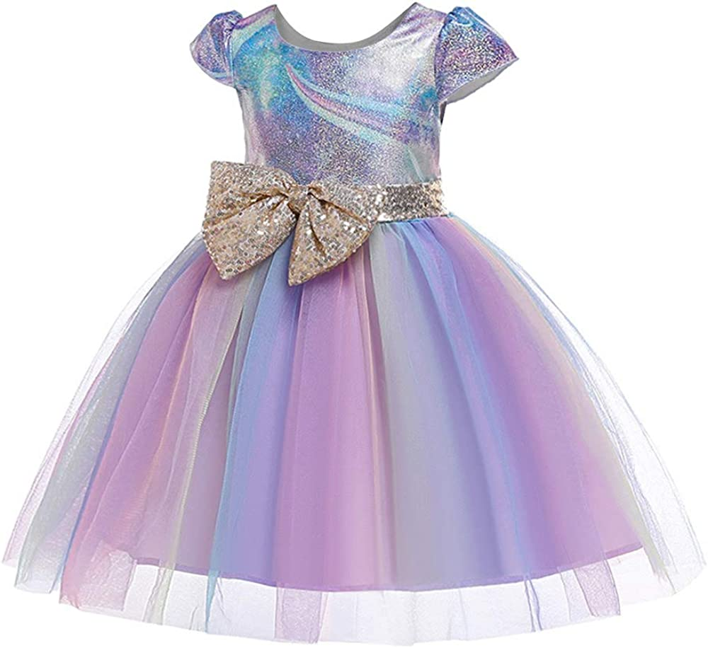 HenzWorld Little Girls Dresses Outfits Costume Princess Dress Up Clothes Birthday Party Jewelry Accessories