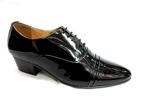 Lucini Zapatos cordones Hombre Puro Cuero Negro Matrimonio oficina Negro 3dQvcqat